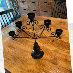 Halloween Candelabra tea light holder